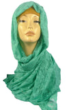 LUXURY LACE MAXI SCARF -GREEN