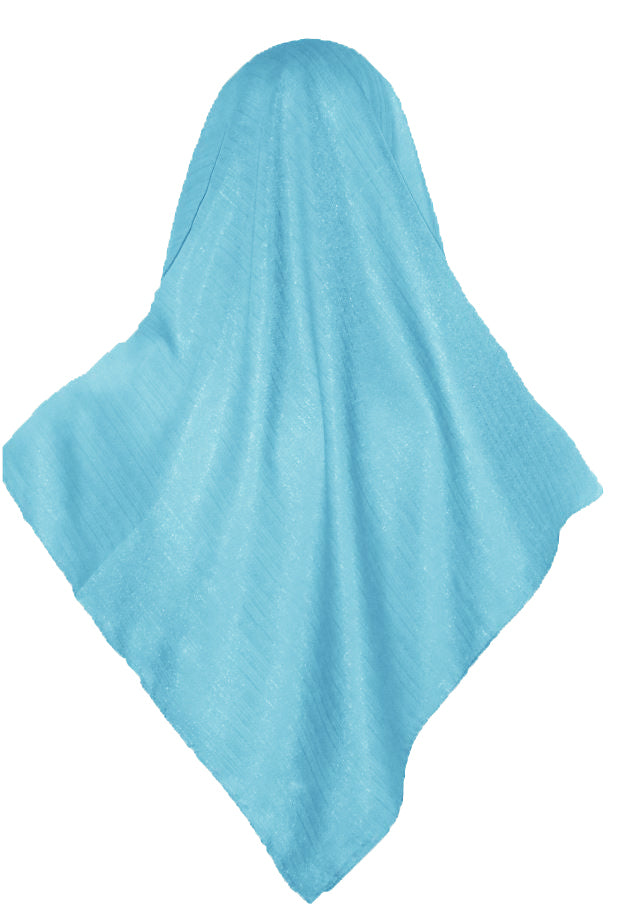 SHIMMER SCARF /HIJAB - LIGHT BLUE SQ.