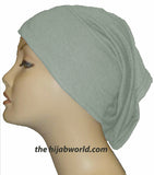 Tube Plain Underscarf - Light Grey