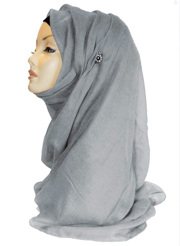 Improved Maxi Hijab/Scarf - Light Grey