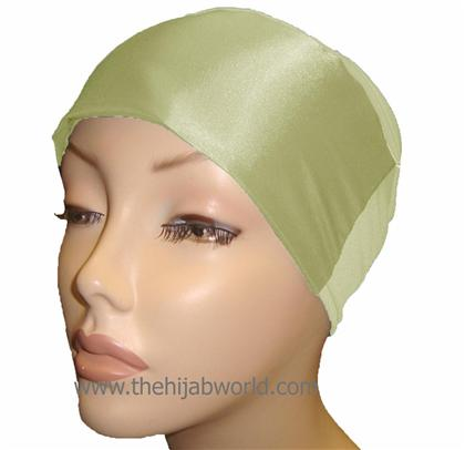 SATIN BONNET/CAP- Pale Green
