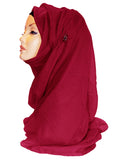 Improved Maxi Hijab/Scarf - Maroon