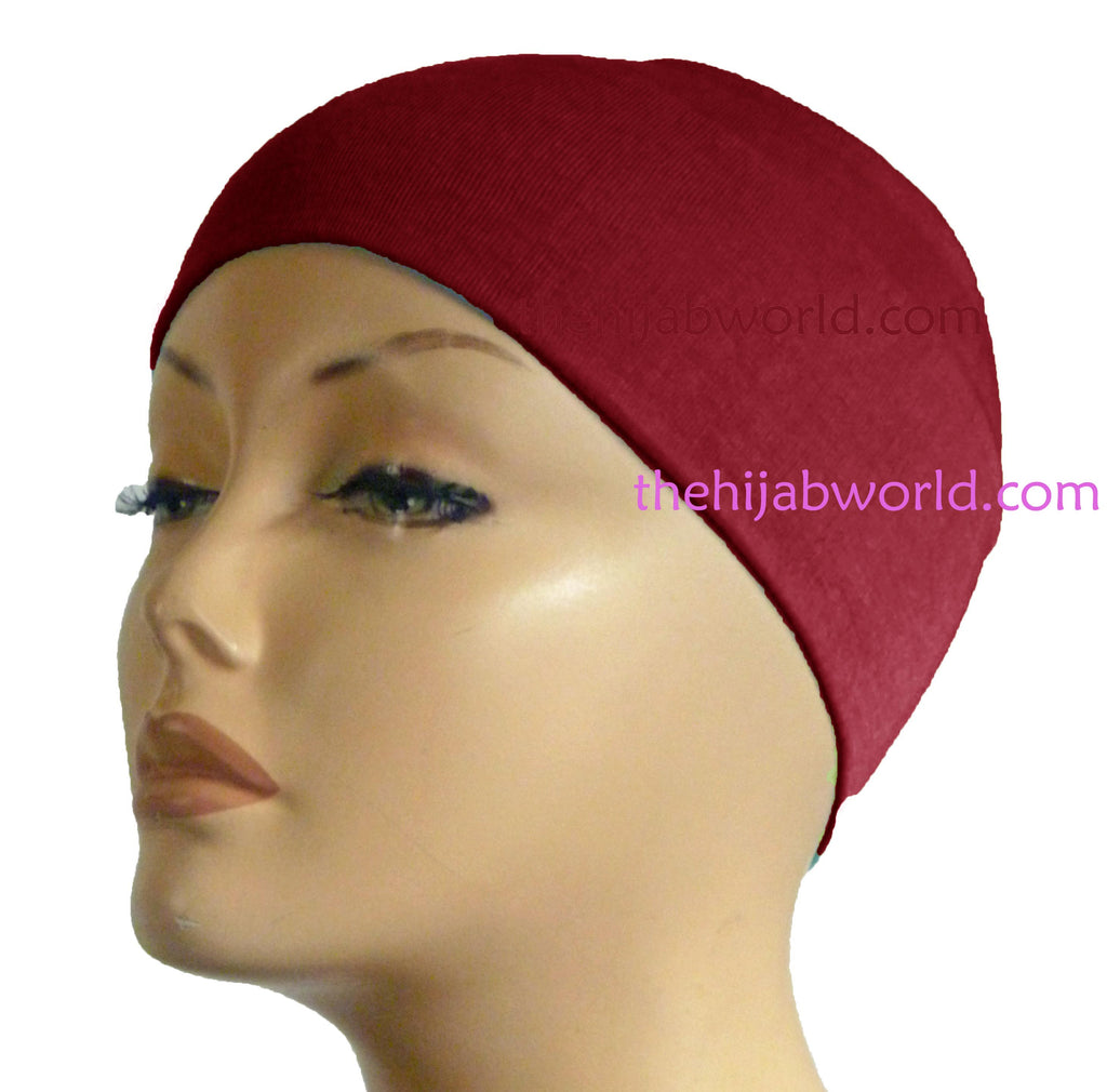 Wide Headband Plain  - Maroon
