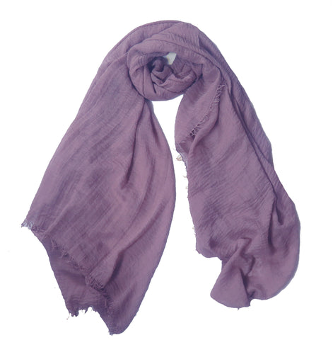 Crimp Frayed Edged Hijabs PH- Mauve