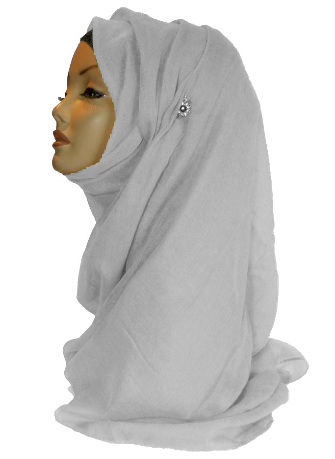 Improved Maxi Hijab/Scarf  - White
