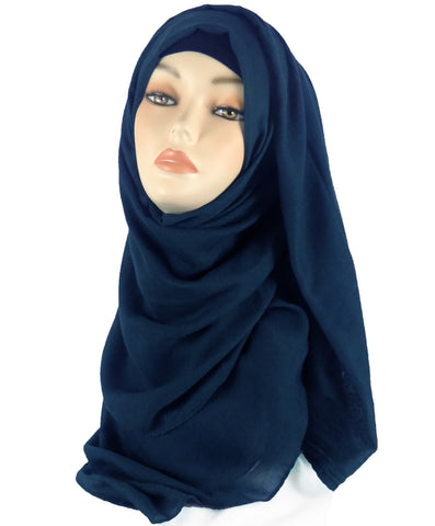 Improved Maxi Hijab/Scarf - Navy