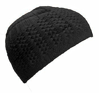 WOOLLY CAP/KUFI/TOPI - Black- 01