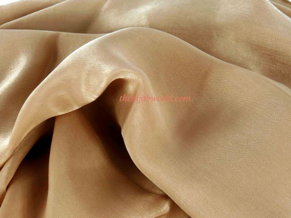MULBERRY SILK SCARF/HIJAB - GOLD
