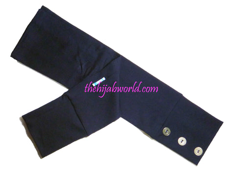 ARM COVERS/SLEEVES WITH BUTTONS -ALT- NAVY