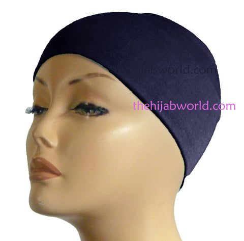 Wide Headband Plain  - Navy