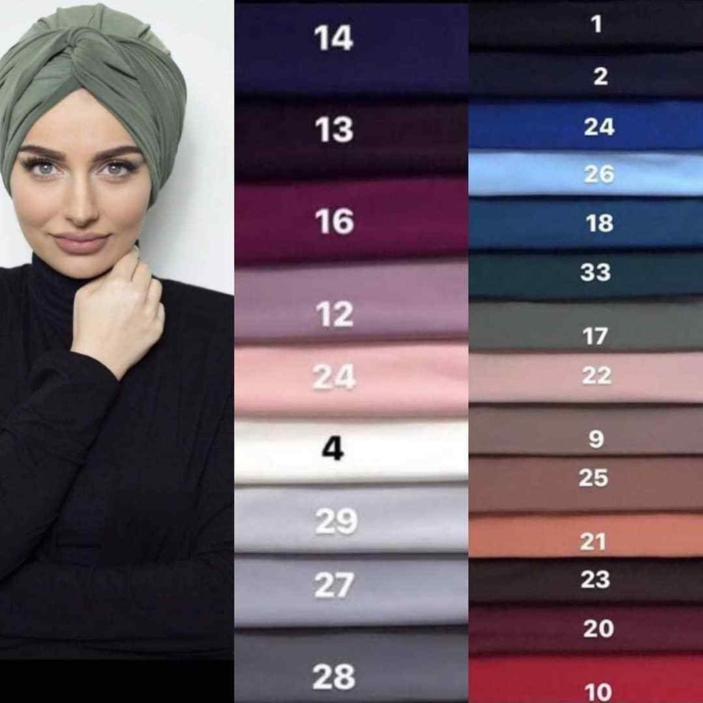 EASY TO WEAR SUEDE TURBAN/CHEMO HIJAB WRAP