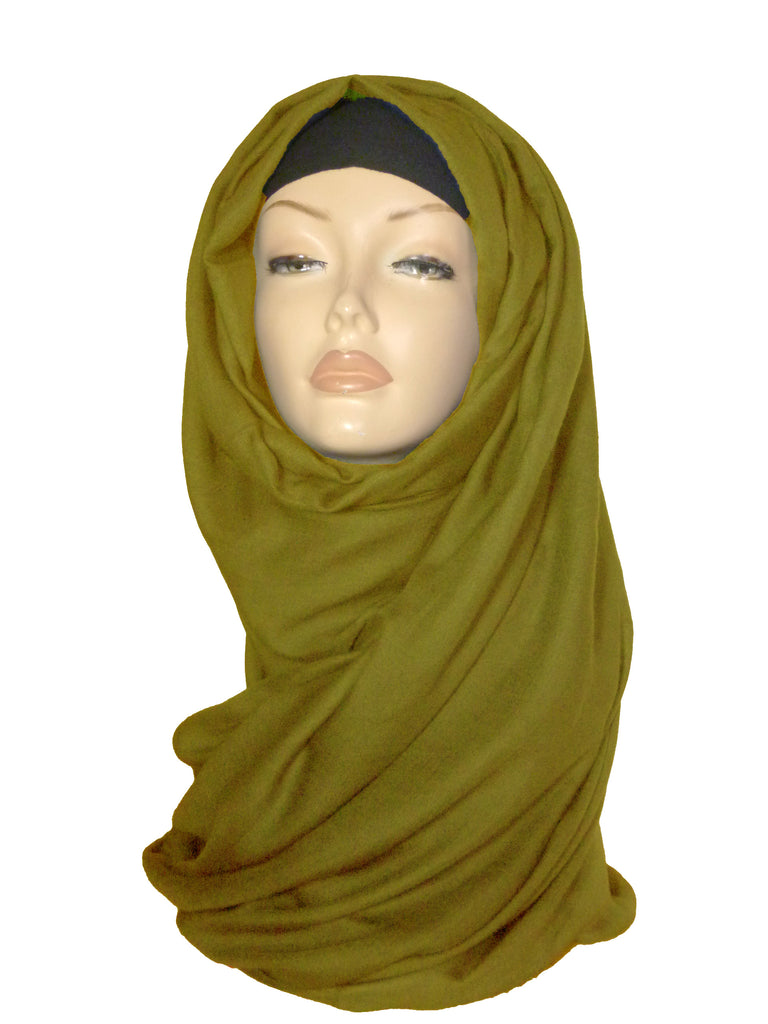 Large Quality Hijab/Scarf - Olive Green