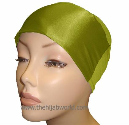 SATIN BONNET/CAP- Green
