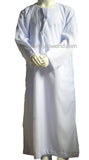 BOYS OMANI WHITE JABBAH/THOBES HKT 28-50 sizes