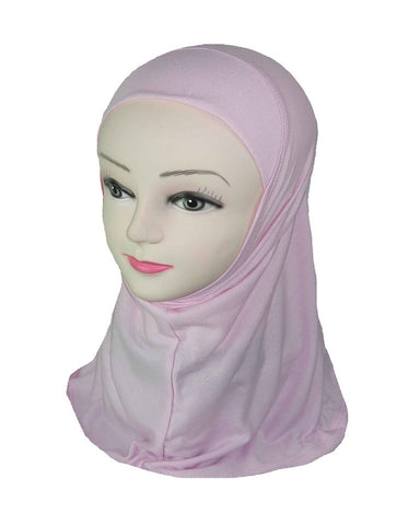 GIRLS PLAIN HIJAB - PALE PINK