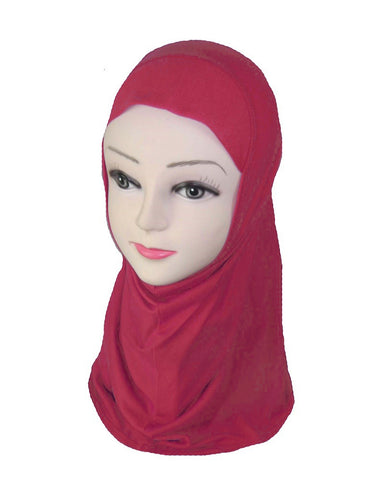 GIRLS PLAIN HIJAB - RED