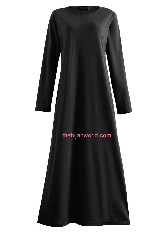 Basic Jersey Girls Abaya K - Black