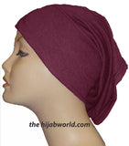 Tube Plain Underscarf - Burgundy