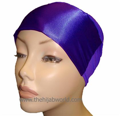 SATIN BONNET/CAP- Purple