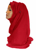 Plain Maxi Hijab/Scarf MH- Red