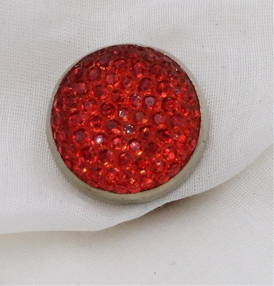 Magnetic Mini Pair of Brooch/Pins/Clip  HP- Red
