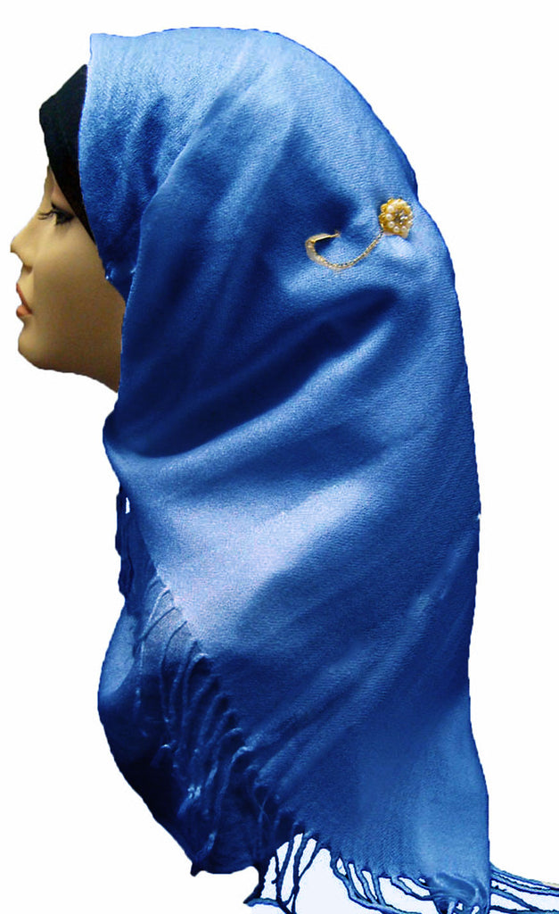 PLAIN SOFT SHAWL/HIJAB - BLUE