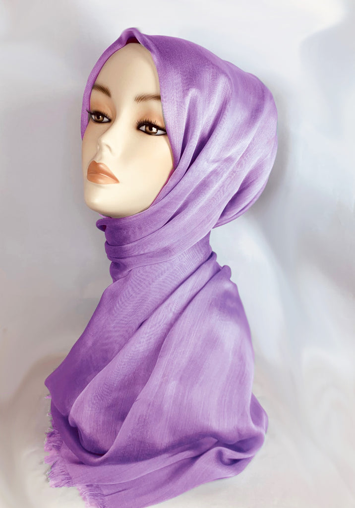 LARGE SILKY SHEEN SCARF SS-  Purple