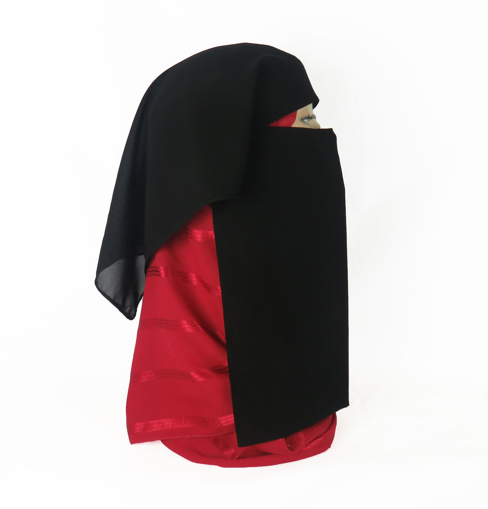 Layered Niqab/Face Veil - Ac-05