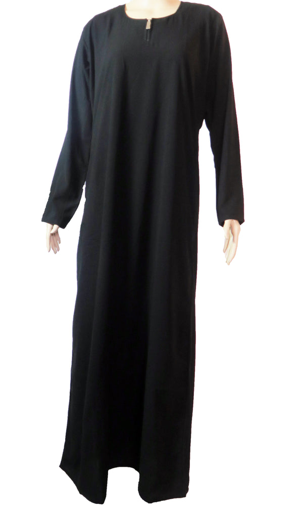 Plain Simple Abaya - BLACK CA02HW