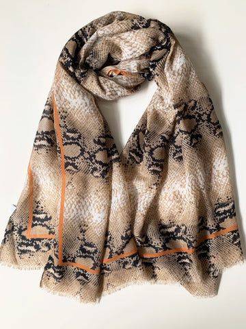Animal Print Maxi Hijab/Scarf PS - Earth shade 0520