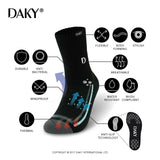 WUDU COMPLIANT WATERPROOF BREATHABLE SOCKS-SKYLINE X -BLACK