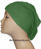 Tube Plain Underscarf - Bright Green