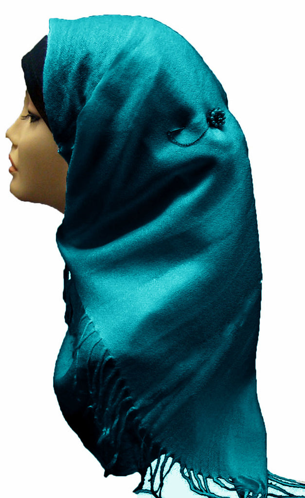 PLAIN SOFT SHAWL/HIJAB - TEAL