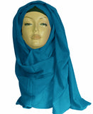 Cotton XL  Hijab/Scarf -Turquoise