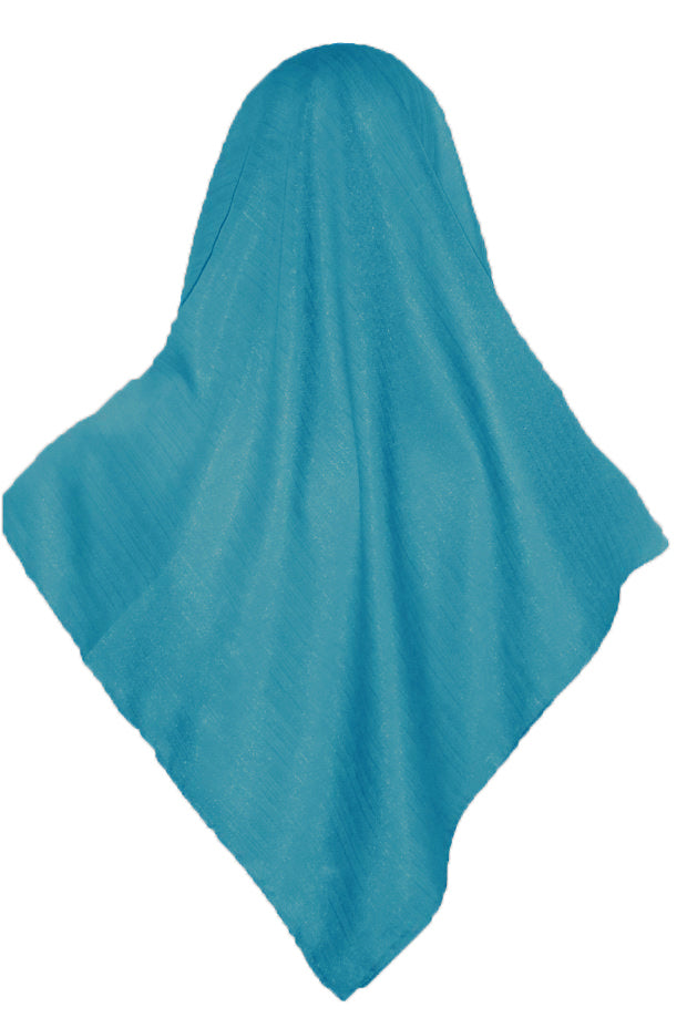 SHIMMER SCARF /HIJAB- TURQUOISE SQ.