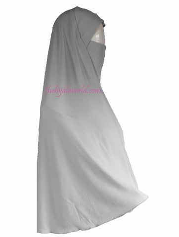 2 in 1  HIJAB BURKHA/ KHIMAR  3XL-WHITE AT