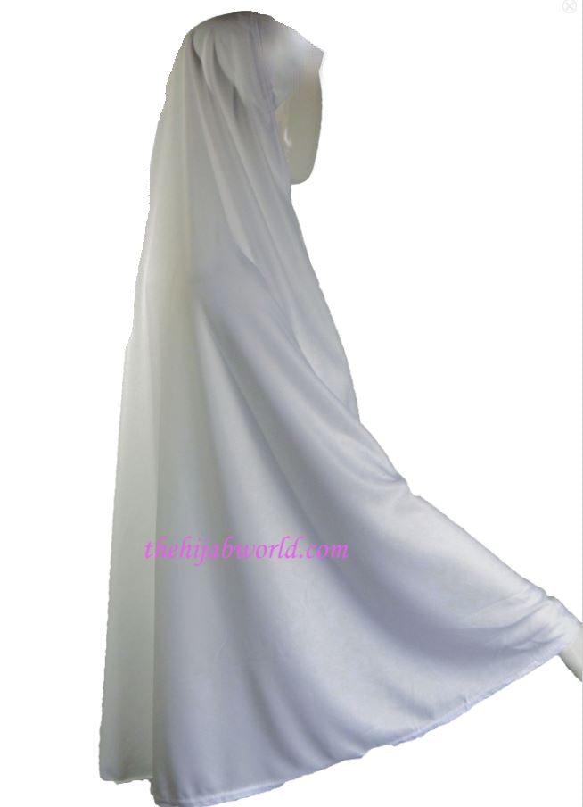 7XXL Long BURKHA/KHIMAAR - Black & White IHLAS