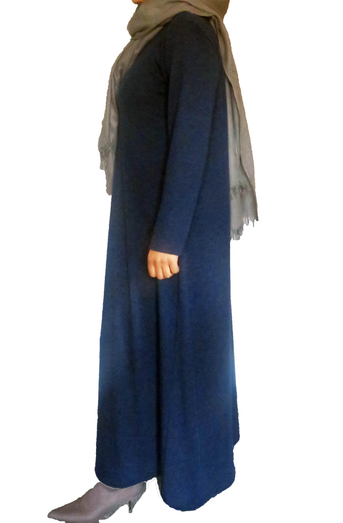 Woolly Feel Simple Abaya CA1219-Navy