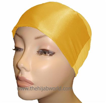 BUY 2 GET 1 FREE! SATIN BONNET/CAP- Yellow
