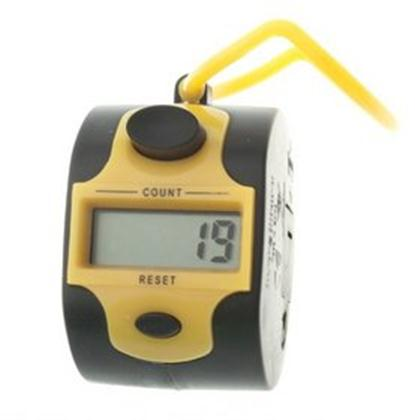 DIGITAL HANDHELD TASBEEH COUNTER -YELLOW