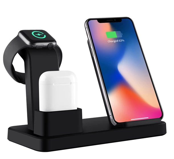 Wireless Quick Charger 3-in-1 Phone, Airpods, Apple Watch