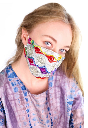 Silk Embroidered Mask