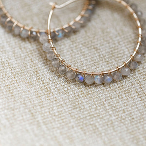 Everyday- Gemstone Hoop Earring