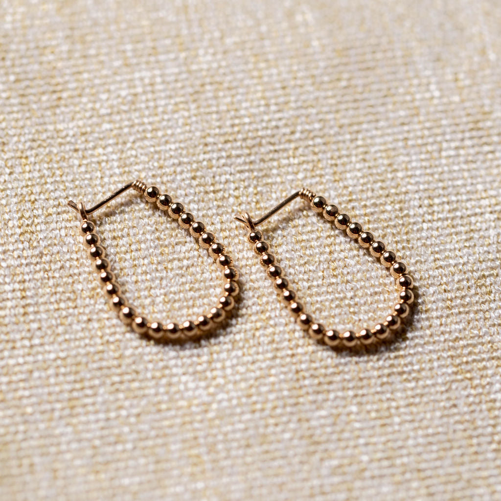 Everyday- Horseshoe Hoop Earrings