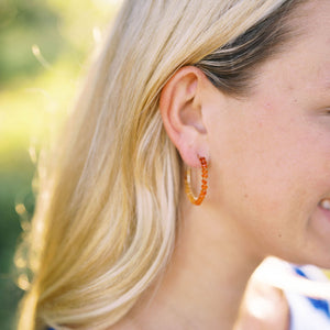 One-Of-A-Kind: Mexican Fire Opal Earring