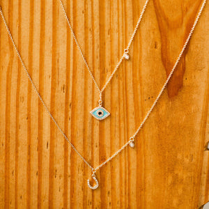 Naomi Eloise: 14k Gold Diamond Avila Necklaces