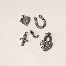 Load image into Gallery viewer, Naomi Eloise:  Oxidized Sterling Silver Diamond Charms