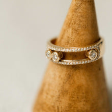 Load image into Gallery viewer, Naomi Eloise: 14k Gold Diamond Slider Ring