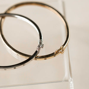 Naomi Eloise: 14k Diamond Bangle Bracelet