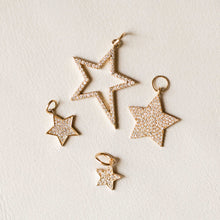 Load image into Gallery viewer, Naomi Eloise: 14k Gold Diamond Star Charms